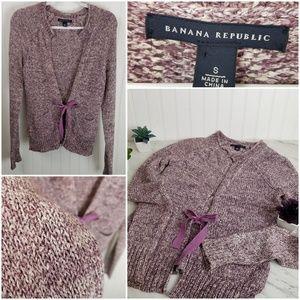 Banana Republic Purple Marled Cardigan Sweater S